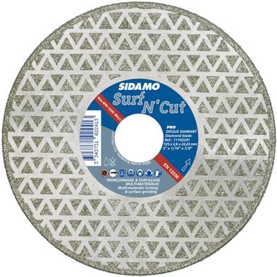 Disques Diamants Jante Continue SURF N'CUT Ø 125 x 22,2 mm (MULTI-MATERIAUX)